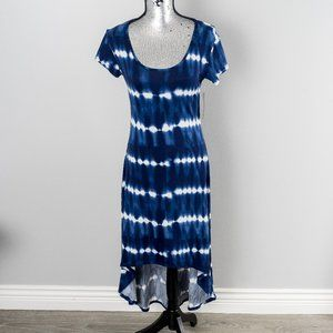 NWT Tie Dye Cap Sleeve High-Low Maxi Dress - small